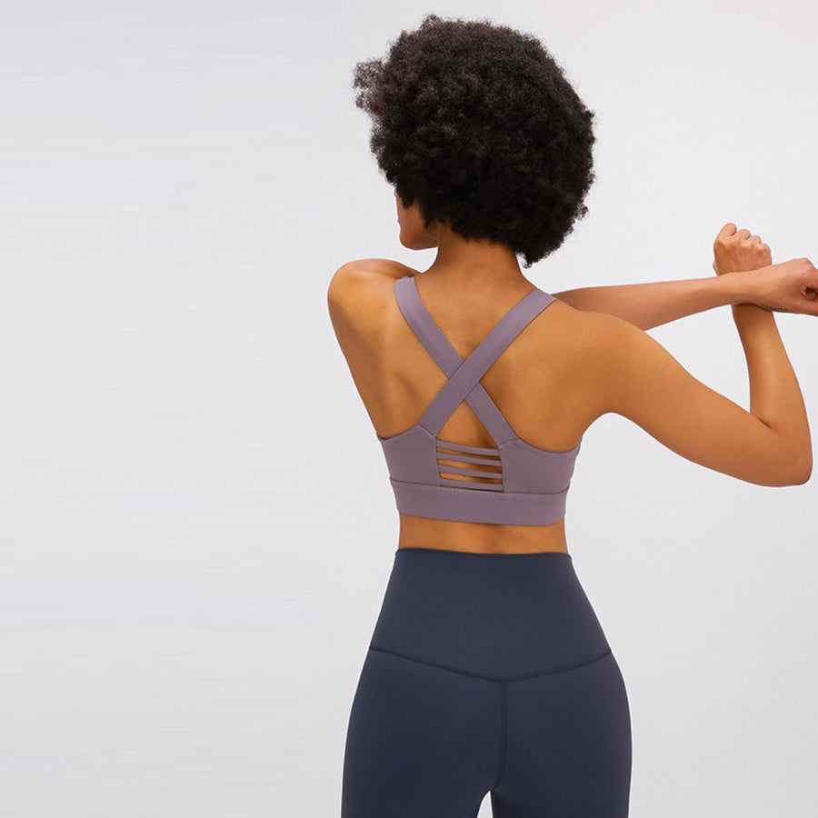 Thick Cross Back Sports Bra - Popstry