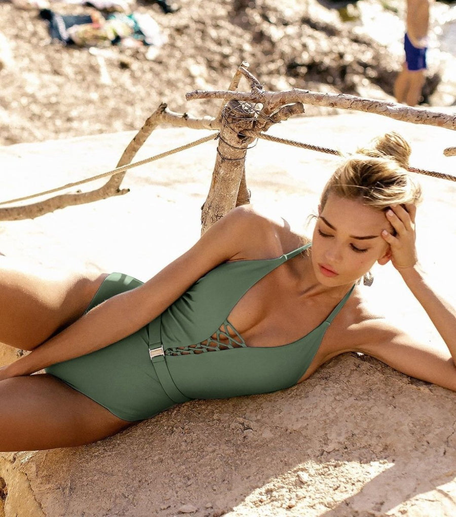 Time To Let Loose One Piece Swimsuit - Popstry