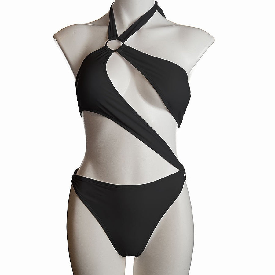 Wraparound Halterneck One-Piece Swimsuit - Popstry