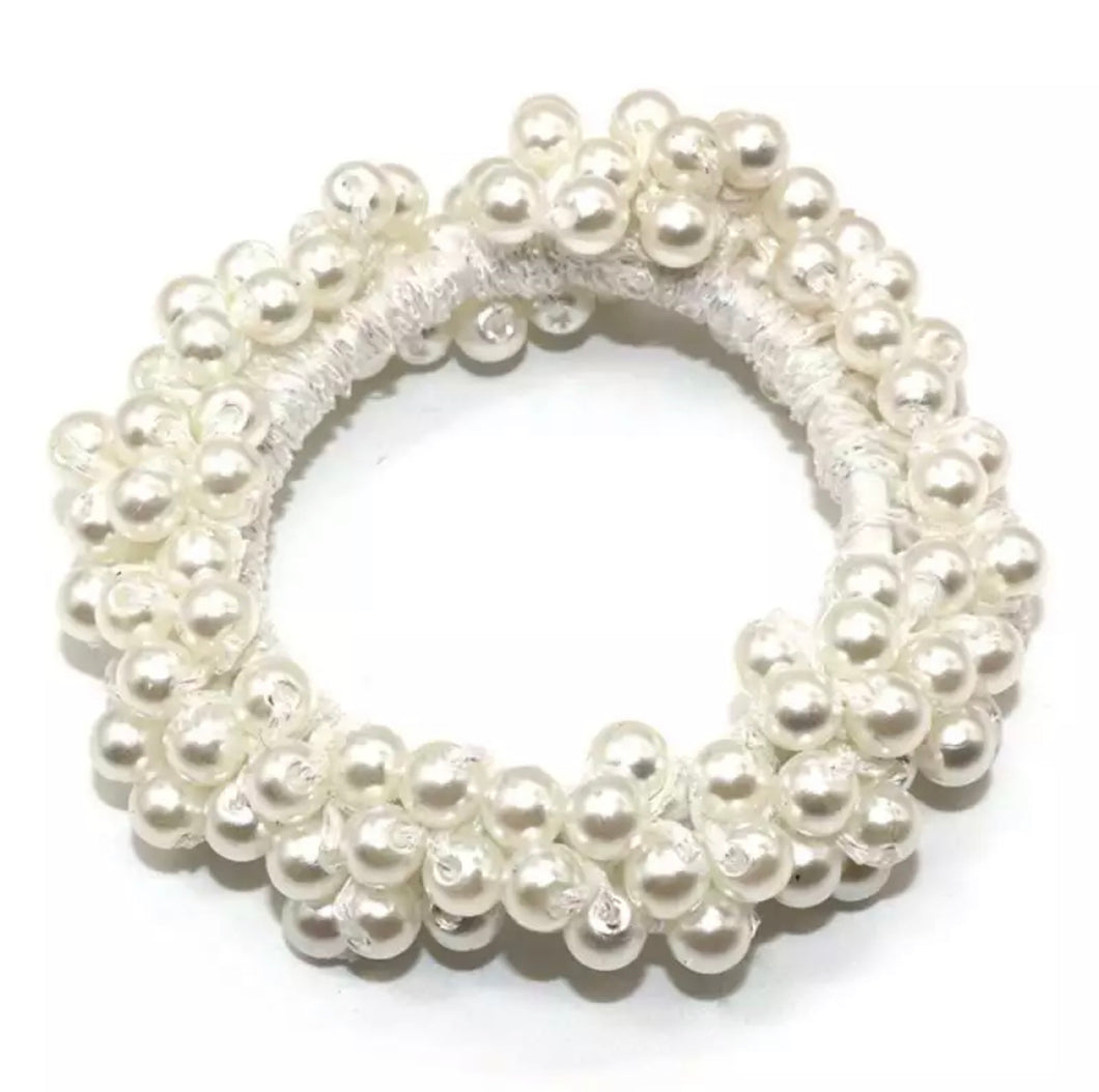 White Pearl Hair Bobble