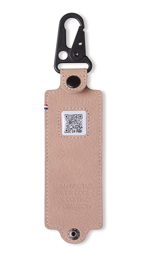 Decoded Leather Travelling Tag with NFC Chip - Rose D8TT1RE
