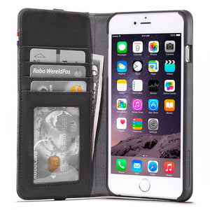 Leather Wallet Case for iPhone 6 Plus / 6s Plus (5,5 inch)