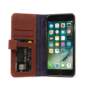 Decoded Leather Wallet Case with magnet closure for iPhone 8 Plus / 7 Plus / 6s Plus / 6 Plus (5,5 inch)