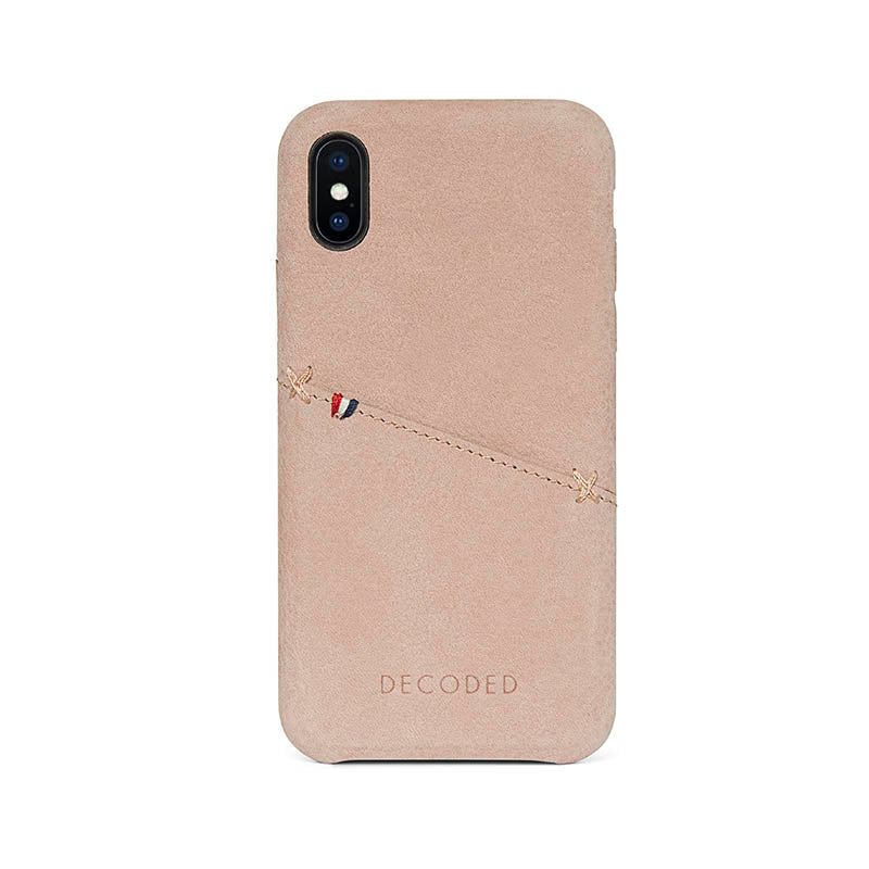 brand new 67d2e b90e8 Decoded Leather Back Cover for iPhone X
