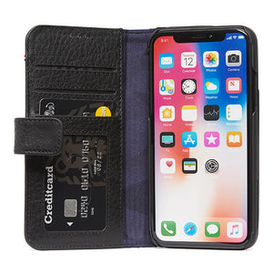 Decoded Leather Wallet Case with magnet closure for iPhone X
