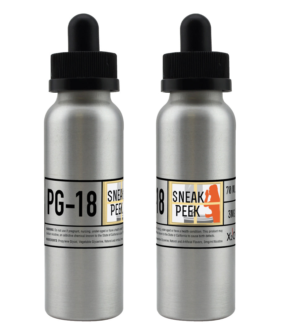 PG-18 Sneak Peek Vape Juice