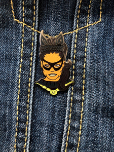 "Eartha Kitt ""Catwoman"" Hard Enamel Pin"