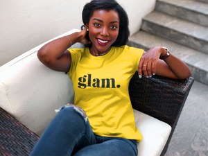 Yellow Glam. Statement T-shirt