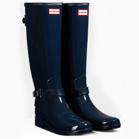 HUNTER REFINED BACK ADJUSTABLE GLOSS BOOT