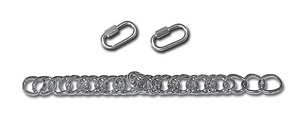 CURB CHAIN KIT FOR MYLER ENGLISH CHEEKS WITH HOOKS