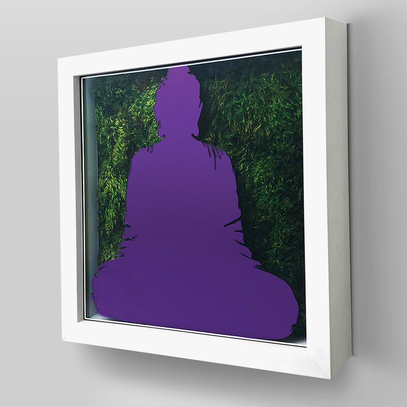 Nature-inspired ArtBox® collection combines real preserved moss and/or flowers with Buddha inspired plexiglass design.