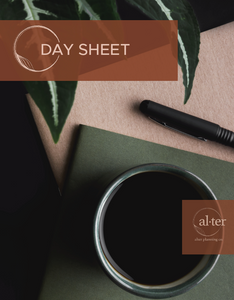 Daily Planning Sheet