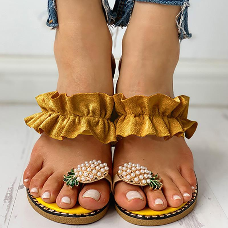 Flowers or Pearls Slippers - Flip Flop Labs