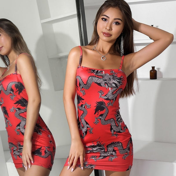 Chinese Dragon Mini Dress - Flip Flop Labs