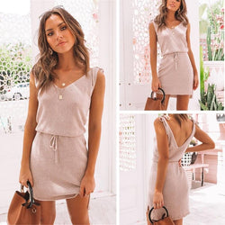 V-Neck Backless Dress - Flip Flop Labs