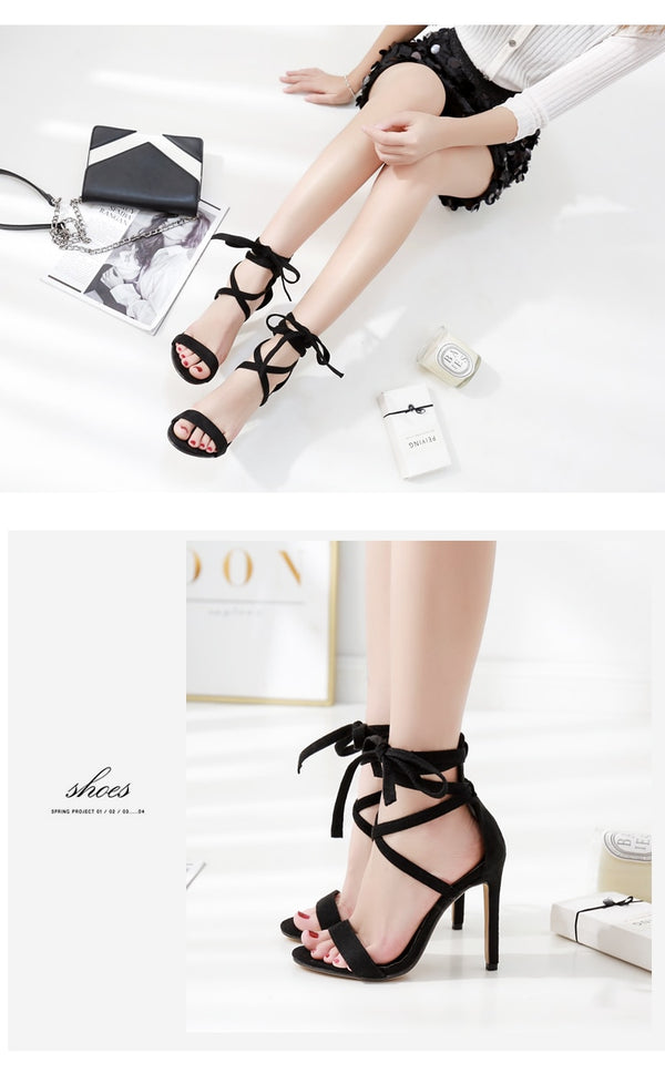 High Heel Ankle Strap Sandals - Flip Flop Labs