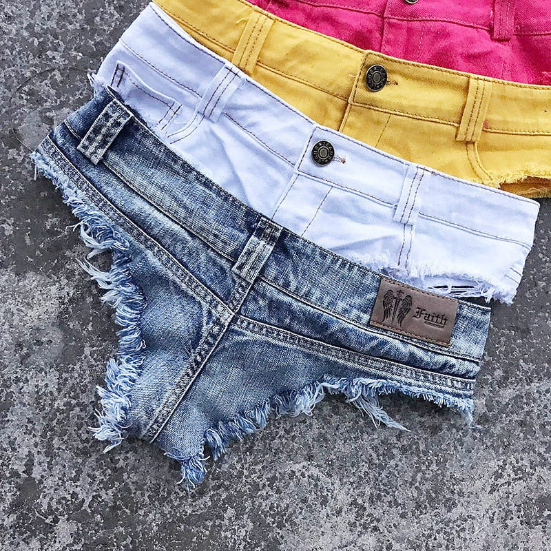 High Cut Denim Shorts - Flip Flop Labs