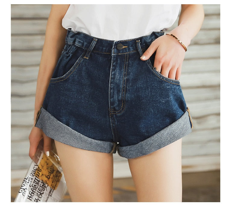 Vintage Wide Leg Denim Shorts - Flip Flop Labs
