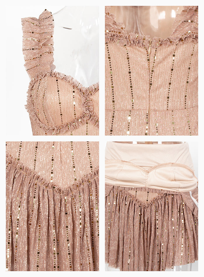 Sequin Ruffled Playsuit - Flip Flop Labs