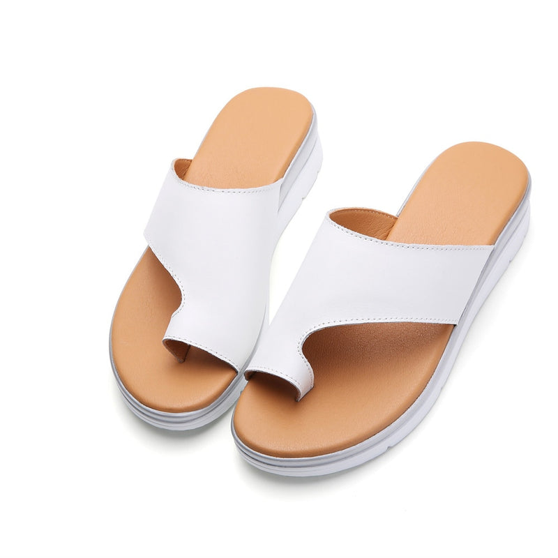 Leather Bunion Slippers - Flip Flop Labs