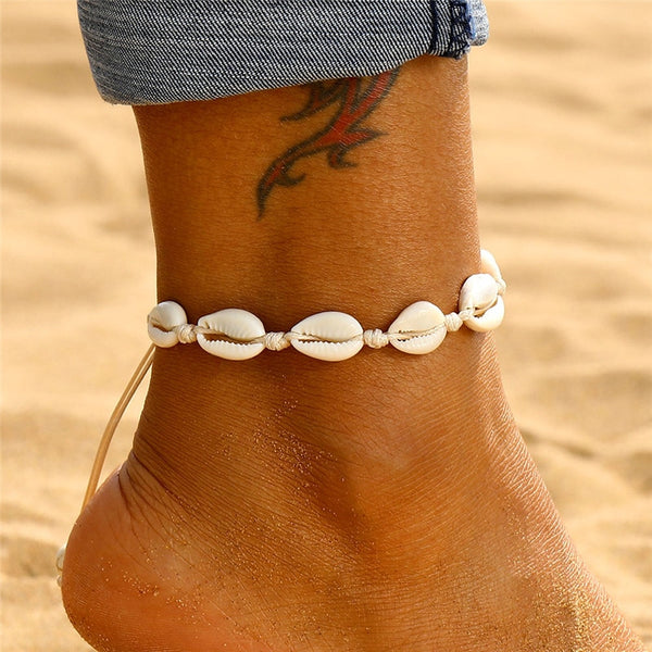 Bohemian Shell Anklet - Flip Flop Labs