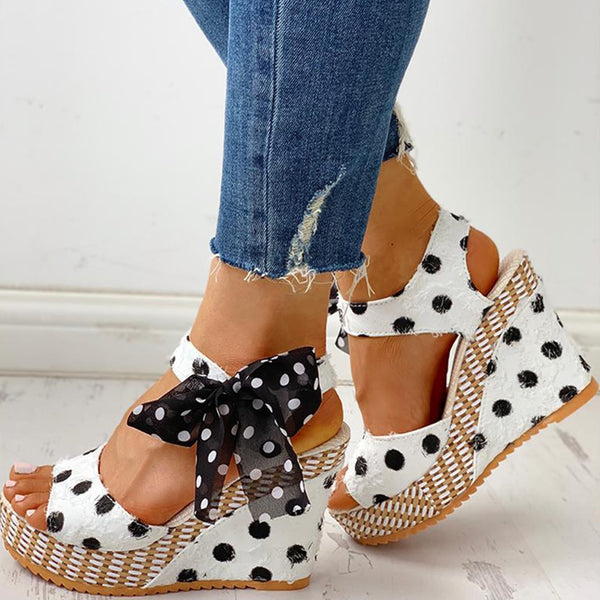 Sweet Polka Dot Wedges - Flip Flop Labs