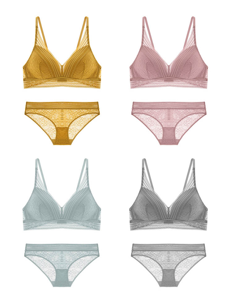Embroidery Lace Bra & Brief Set - Flip Flop Labs