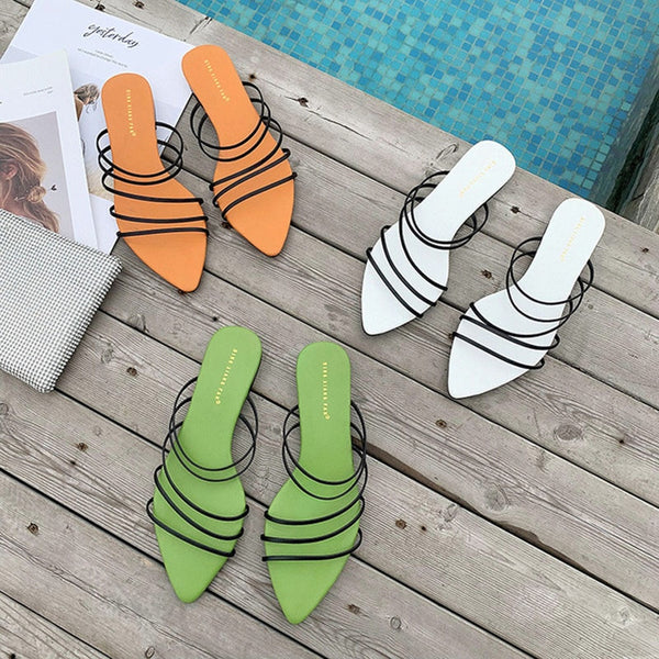 Candy Colour Flat Slippers - Flip Flop Labs