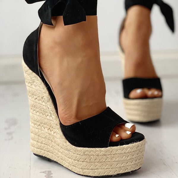 Summer Ankle-wrap Wedges - Flip Flop Labs