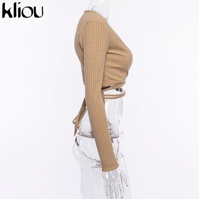 Knitted Full Sleeve V-Neck Top - Flip Flop Labs