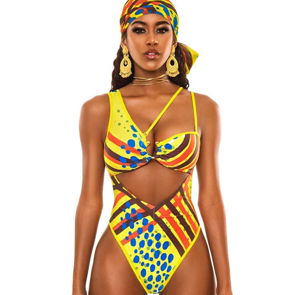 African Print One-Piece Swimsuit - Flip Flop Labs