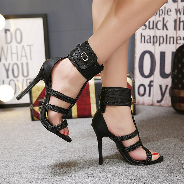 Wide Ankle Belt Strap High Sandals - Flip Flop Labs