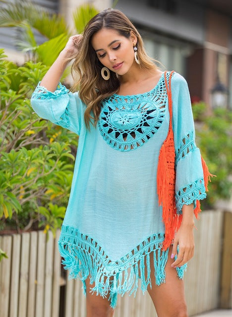 Lace Crochet Beach Cover Up - Flip Flop Labs