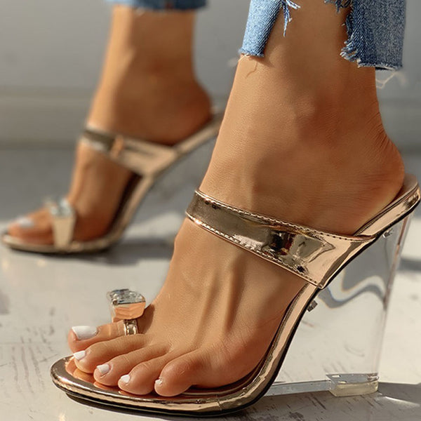 Clear Wedge Sandals - Flip Flop Labs