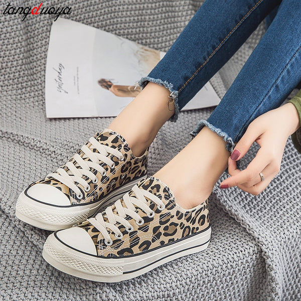 Leopard Canvas Sneakers - Flip Flop Labs