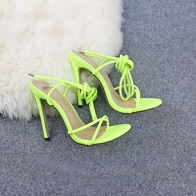Neon Cross Tie Pumps - Flip Flop Labs