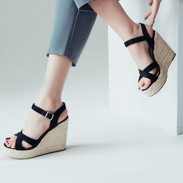 Cross-strap Wedge Sandals - Flip Flop Labs