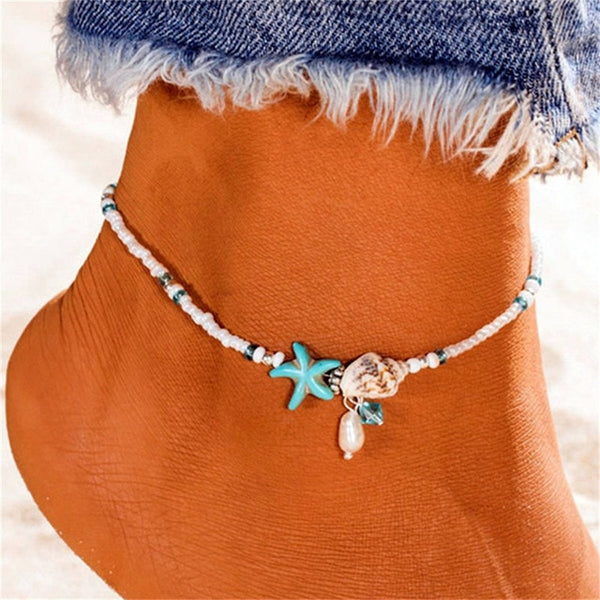 Starfish shells Anklet - Flip Flop Labs