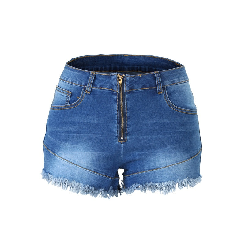 High Waist Denim Shorts - Flip Flop Labs