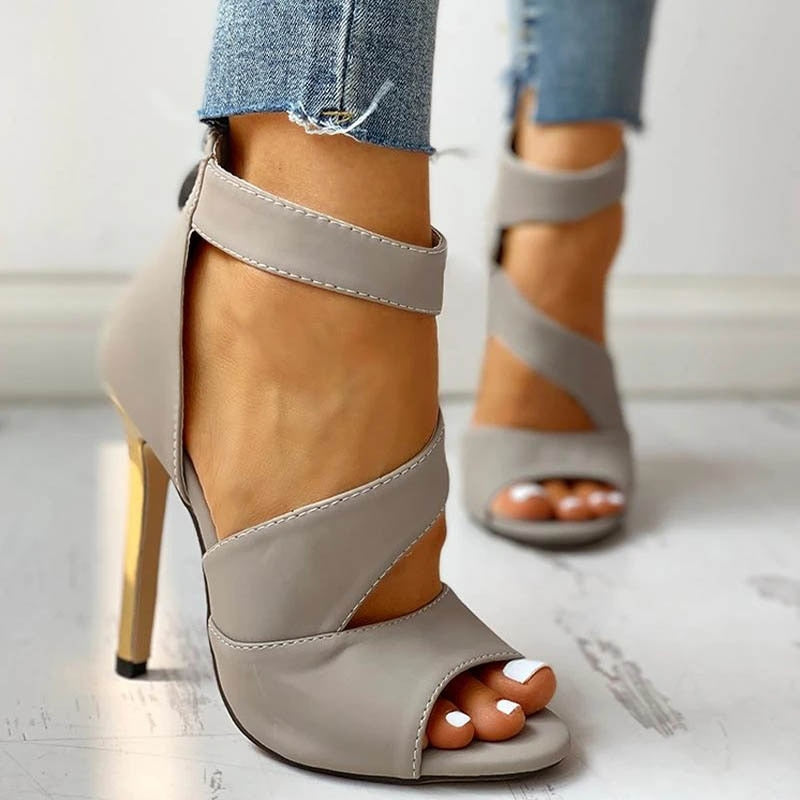 Zip Peep Toe Sandals - Flip Flop Labs