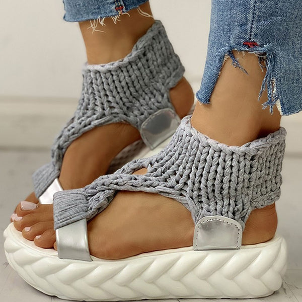 Knitted Slip-on Gladiator Sandals - Flip Flop Labs