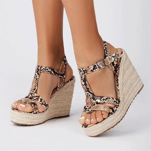 Boho Snakeskin Wedge