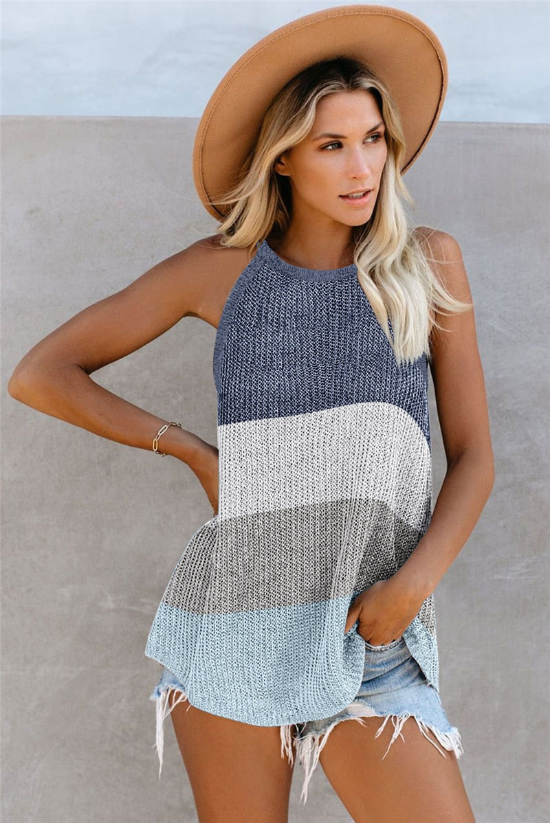 Long Knit Tank Top - Flip Flop Labs