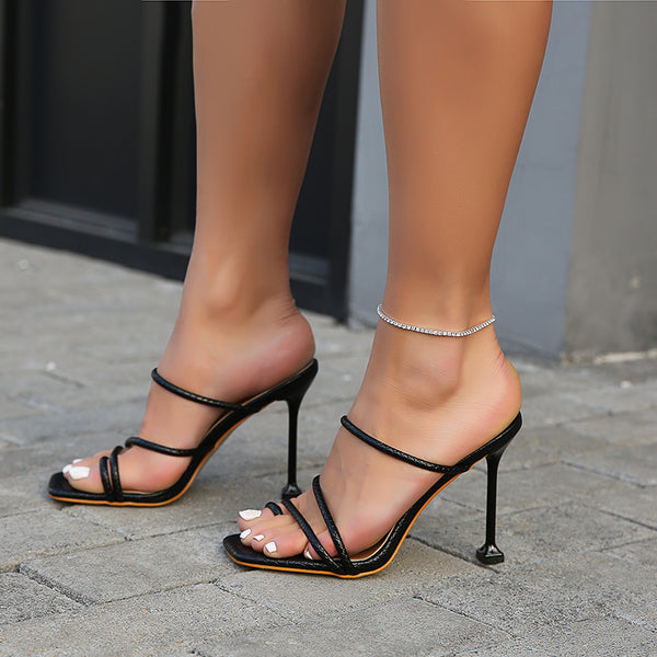 Square Toe Heel Sandals - Flip Flop Labs