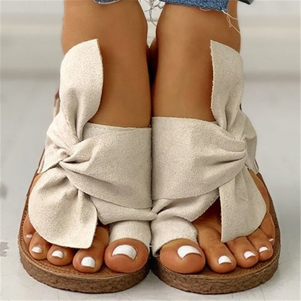 Girly Bow Summer Slippers - Flip Flop Labs