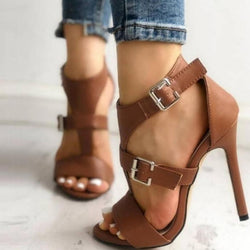 Double Strap Heeled Sandals - Flip Flop Labs