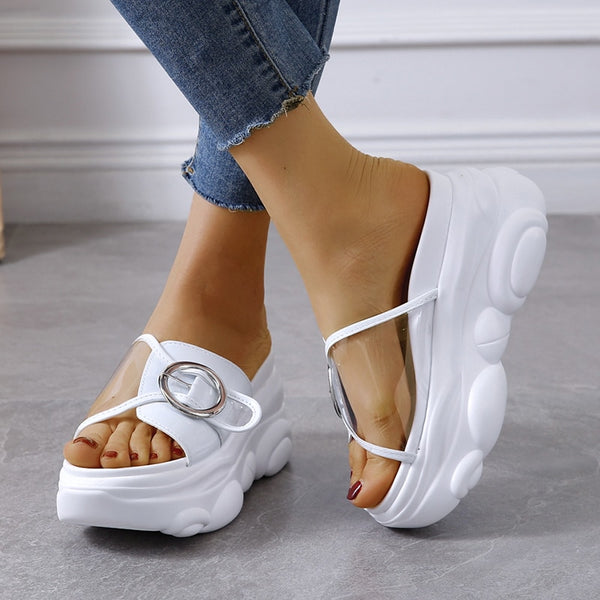 Wedge Platform Slippers - Flip Flop Labs