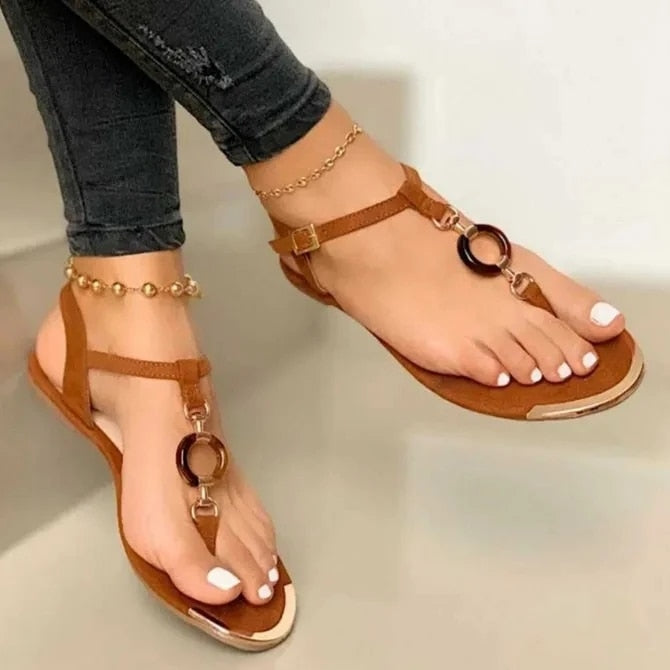 Clip Toe Roman Buckle Sandals - Flip Flop Labs