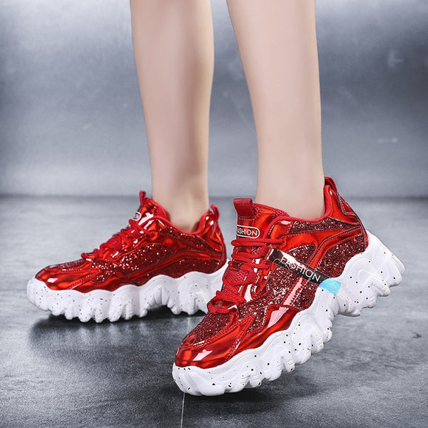 Chunky Platform Sequined Sneakers - Flip Flop Labs