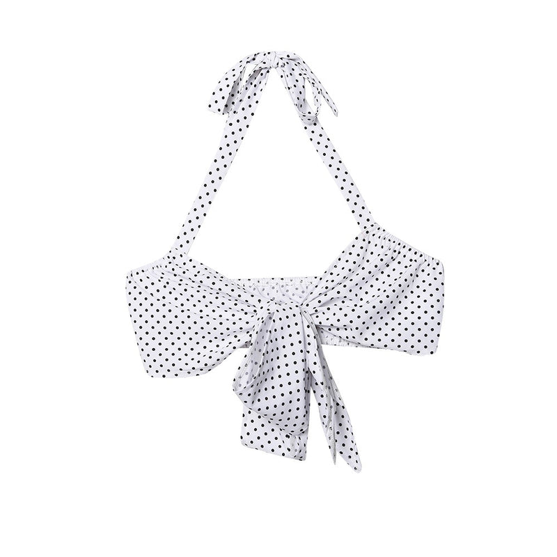 Tie Bow Backless Polka Dot Crop - Flip Flop Labs